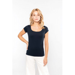 Kariban T-shirt col bateau manches courtes femme