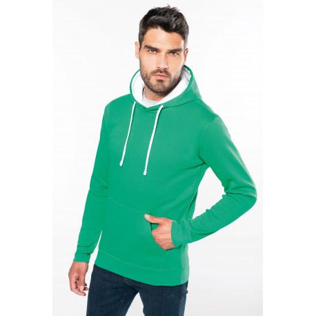 Kariban Men´s contrast hooded sweatshirt