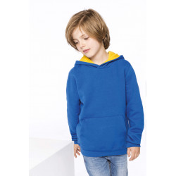 Kariban Kids´ contrast hooded sweatshirt