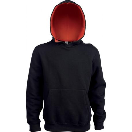 Kariban Kids´ contrast hooded sweatshirt