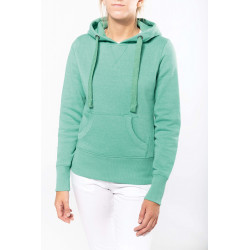 Kariban Ladies� melange hooded sweatshirt