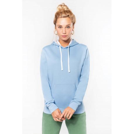 Kariban Ladies� contrast hooded sweatshirt