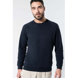 Kariban Men´s organic cotton crew neck raglan sleeve sweatshirt