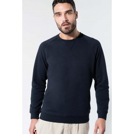 Kariban Men´s organic cotton crew neck raglan sleeve sweatshirt