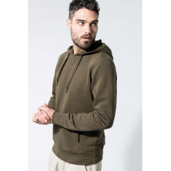 Kariban Men�s organic hooded sweatshirt