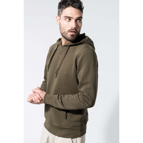 Kariban Men�s organic hooded sweatshirt