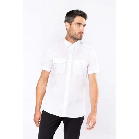 Kariban Men´s short-sleeved pilot shirt