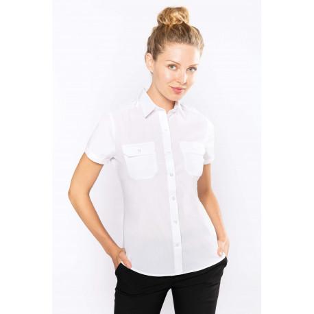 Kariban Ladies� short-sleeved pilot shirt