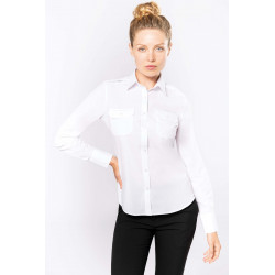 Kariban Ladies� long-sleeved pilot shirt