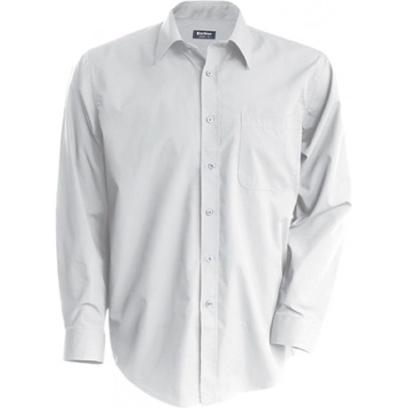 Kariban Men´s long-sleeved cotton poplin shirt