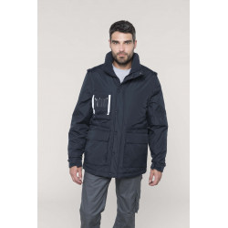 Kariban Detachable-sleeved workwear parka
