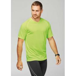 Proact T-shirt de sport manches courtes col v homme