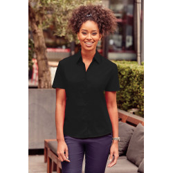 Russell Ladies´ Short-Sleeved Polycotton Poplin Shirt