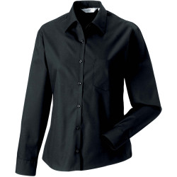 Russell Ladies´ Long-Sleeved Pure Cotton Poplin Shirt