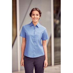 Russell Ladies´ Short-Sleeved Pure Cotton Poplin Shirt