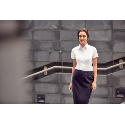 Russell Ladies´ Short-Sleeved Herringbone Shirt