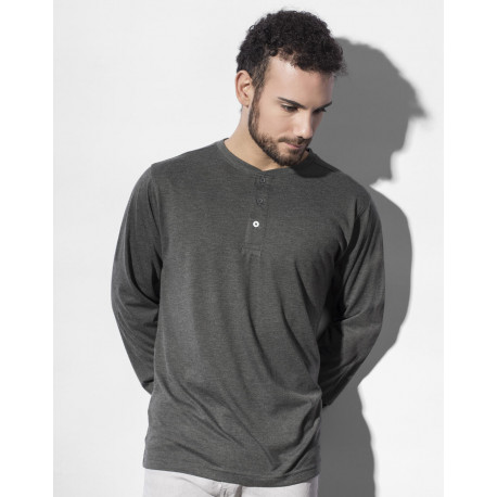 Nakedshirt Aden Men´s LS Henley T-Shirt
