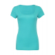 Bella+Canvas Sheer Mini Rib Scoop Neck T-Shirt